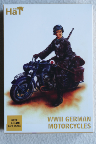 HaT 1/72 HAT8127 German Motorcycles (WW2)